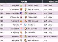 Partidos, horarios y retransmisión por TV de la Jornada 18